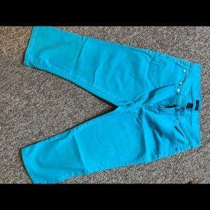 Chaps Turquoise Capri Jeans